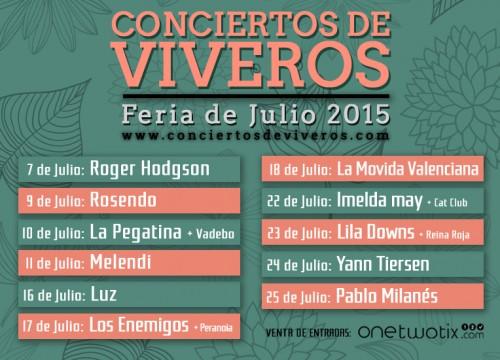 CONCIERTOS DE VIVEROS 2015